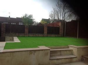 Artificial Grass Installed in Garden