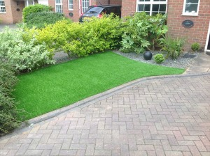 Artificial Grass Installation front of house