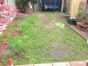 Artificial Grass Installation before