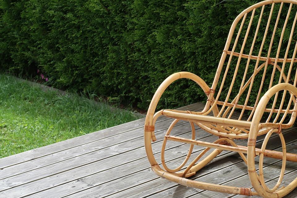 Rocking chair on decking